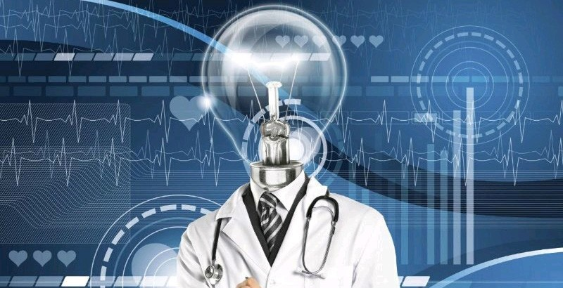 A doctor with a lightbulb for a head
